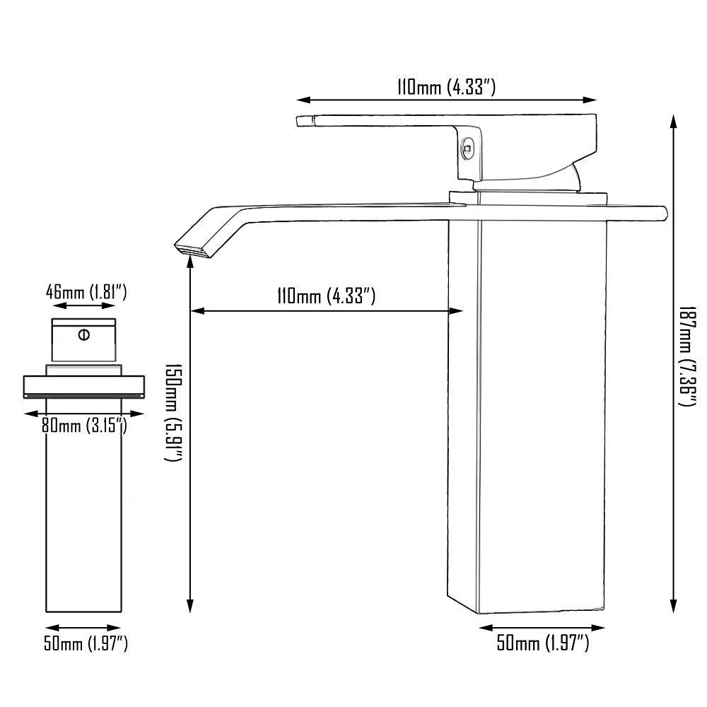 mitigeur de lavabo laiton noir h18cm pour salle de bains. Black Bedroom Furniture Sets. Home Design Ideas