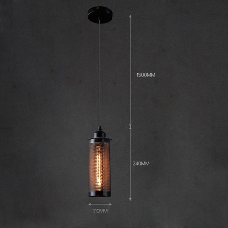 (Entrepôt UE) Style américain campagne industriel rétro rustique Matériel Fer en filet suspension