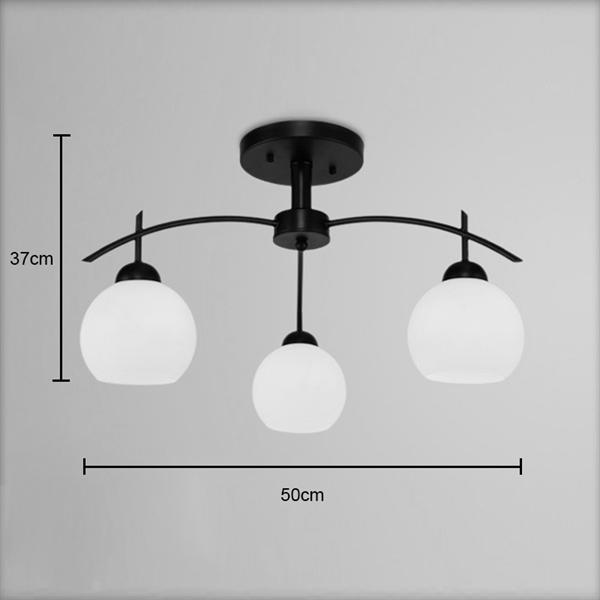 Entrep t ue lustre 3 lampes verre ronde suspension for Luminaire suspension 3 ampoules
