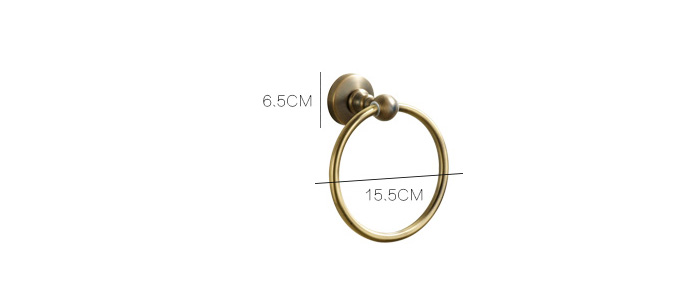 European Antique Bathroom Accessories Bronze Towel Ring