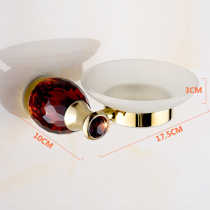 European Style Bathroom Accessories Soap Holder with 4-color Crystal