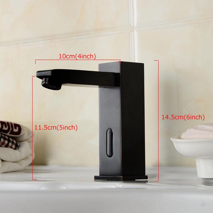 Antique Oil-rubbed Bronze Black Sink Sensor Faucet