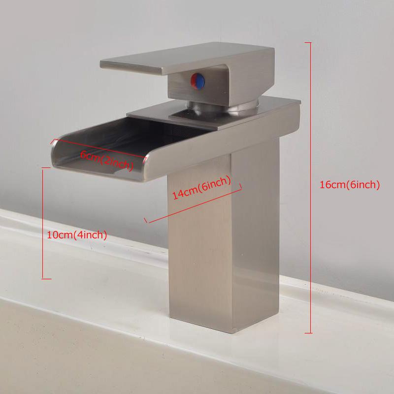 robinet de lavabo r tro bross argent un trous une poign e. Black Bedroom Furniture Sets. Home Design Ideas