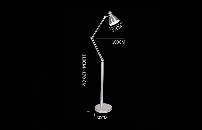 Modern Creative Silver Vertical Floor Lamp