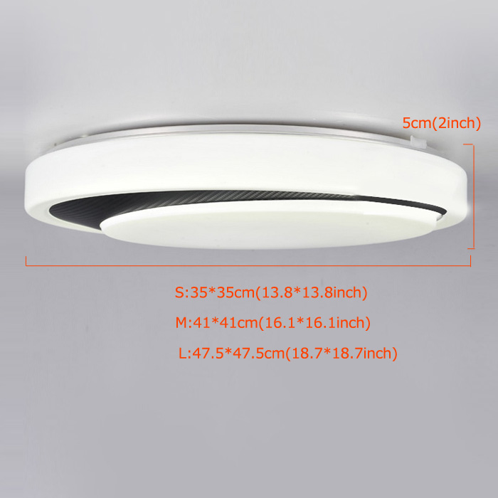 White Flush Mount LED Dimmable Light Living Room Bedroom Study Room Dining Room