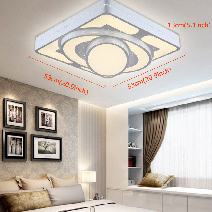 Modern Simple Fashion LED Acrylic White Square Flush Mount Light Living Room Bedroom Dining Room Study Room