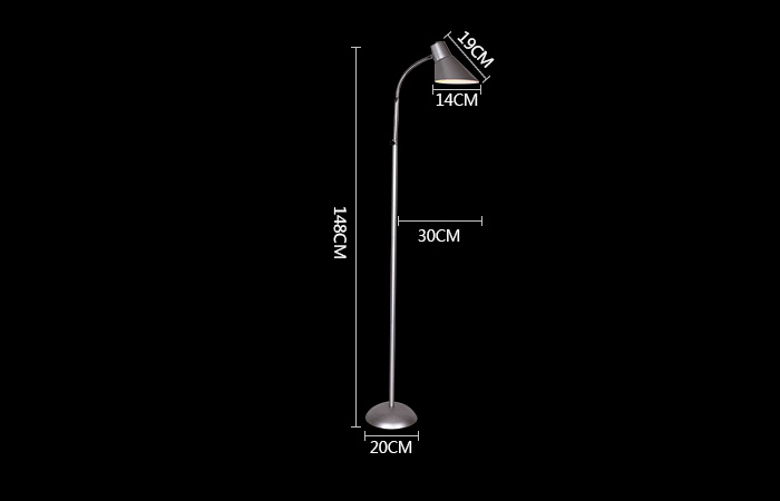 Modern  Vertical Floor Lamp with 4 Colors